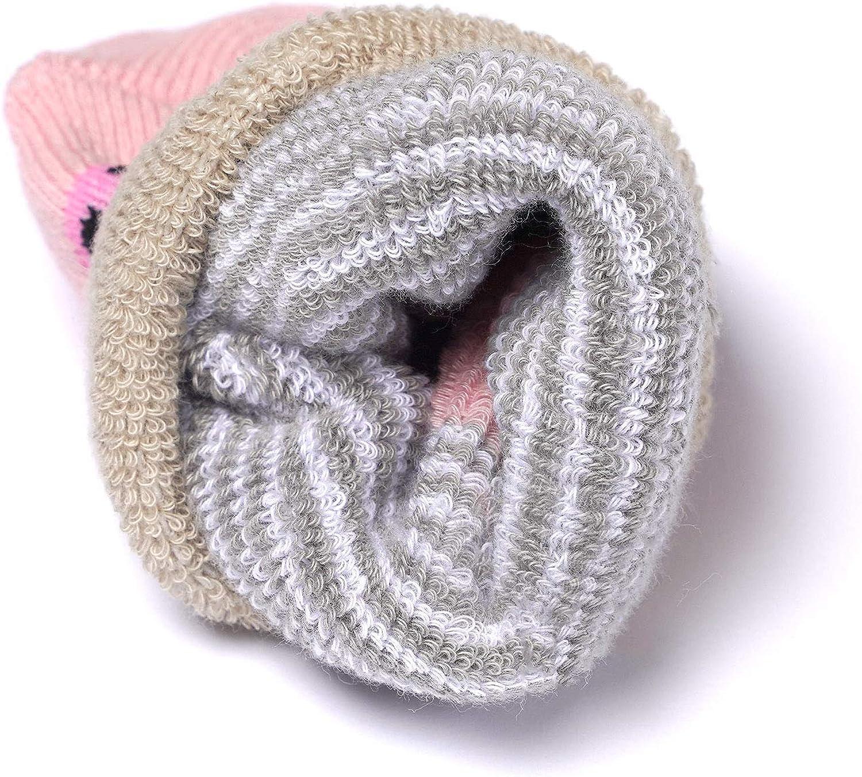 Adorel Chaussettes Chaudes Coton Hiver Motif B/éb/é Lot de 5