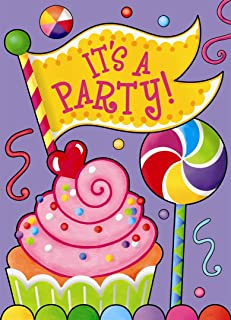 Candy Party Invitations, 8ct