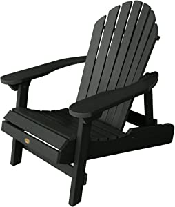 Highwood AD-CHL1-CHE Hamilton Made in the USA Adirondack Chair, Adult Size, Charleston Green