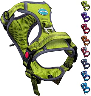ThinkPet No Pull Harness Breathable Sport Harness with Handle - Reflective Padded Dog Safety Vest Adjustable Harness, Back...