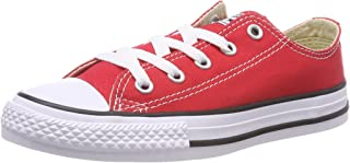 13d25973c4c3 Converse Youth Chuck Taylor All Star OX Basketball Shoes 10.5 Kids US (RED)