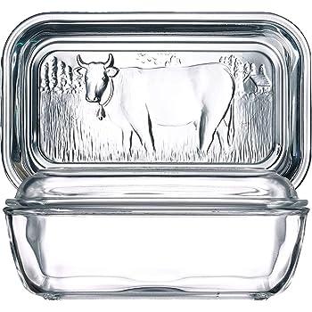 Beurrier vintage country avec couvercle Couvercle grès ferme vache serving tray