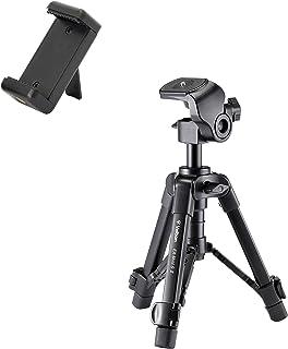 Velbon(ベルボン) 卓上スマホ三脚 EX-miniS II(EX-ミニS II) 2段 レバーロック 全高41.7cm 最低高19.0cm 脚径17mm 小型 2Way雲台 アルミ脚 スマホホルダー付属 500625