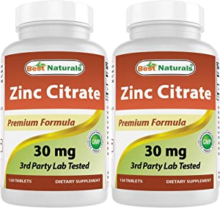 Best Naturals Zinc Citrate 30 mg - 120 Tablets (120 Count (Pack of 2))