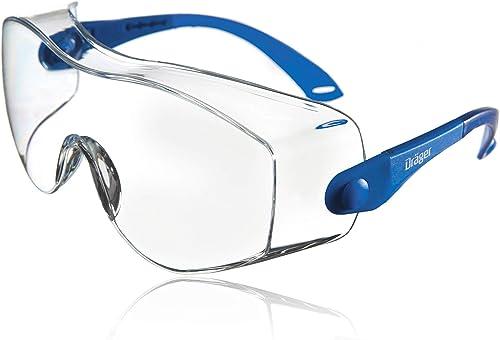 Dräger X-pect 8120 Surlunettes de Protection | 1 paire de lunettes de sécurité réglables | Pour l'agriculture, l'indu...
