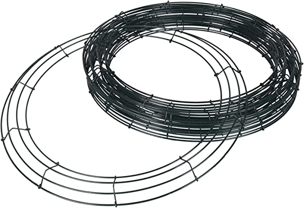 BBCrafts 20 Inch Round Deco Mesh Wreath Wire Frames For Wedding Decoration Party Hunter Green Bundle Of 10pcs
