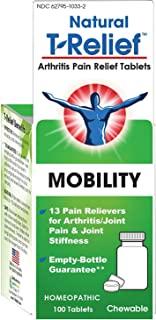 MediNatura T-Relief Arthritis Pain Relief with Arnica - Soothes Joint Pain & Stiffness - Combines 13 Natural Plants, Minerals & Tissue Extracts For Safe Relief of Arthritis Pain - 100 Tablets