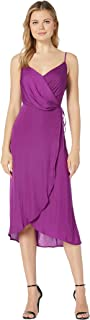 Women's Sleeveless Rumple Cami Wrap Dress