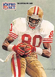 1991 Pro Set Football Card #379 Jerry Rice San Francisco 49ers Official NFL Trading Card