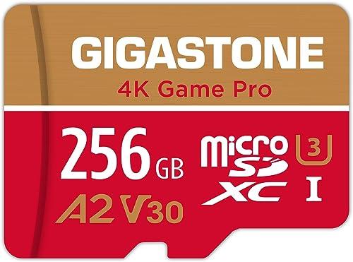 Gigastone Carte Mémoire 256 Go 4K Game Pro Série Idéal pour Nintendo Switch, Haute Vitesse allant jusqu'à 100 Mo/s. p...