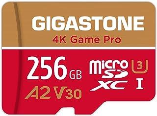 【5年保証 】Gigastone Micro SD Card 256GB A2 V30 マイクロSDカード UHS-I U3 Class 10 100MB/S 高速 micro SD カード Nintendo Switch 動作確認済 SD変換...