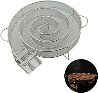kucoolou Cold Smoke Generator for BBQ Bacon Fish Salmon Meat dust Hot and Smoking Salmon Meat Burn Smoker Tools Bacon Meat...