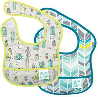 Bumkins Starter Bib, Baby Bib Infant, Waterproof, Washable, Stain and Odor Resistant, 3-9 Months, 2-Pack – Cactus & Quill