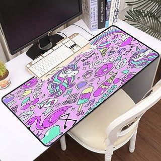 Luoquan Alfombrilla Raton Grande Gaming Mouse Pad,Patrón con Unicornio,Impermeable Alfombrilla Gruesa de Goma Antideslizan...