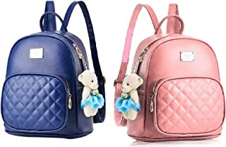 Latest New Trend Teddy Backpack Used For Women & Girls Pu Leather Backpack School Bag Student Backpack Travel Bag Tution B...