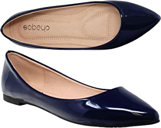 Women Ballet Flats Pointed Toe Slip On Closed Toe Shoes