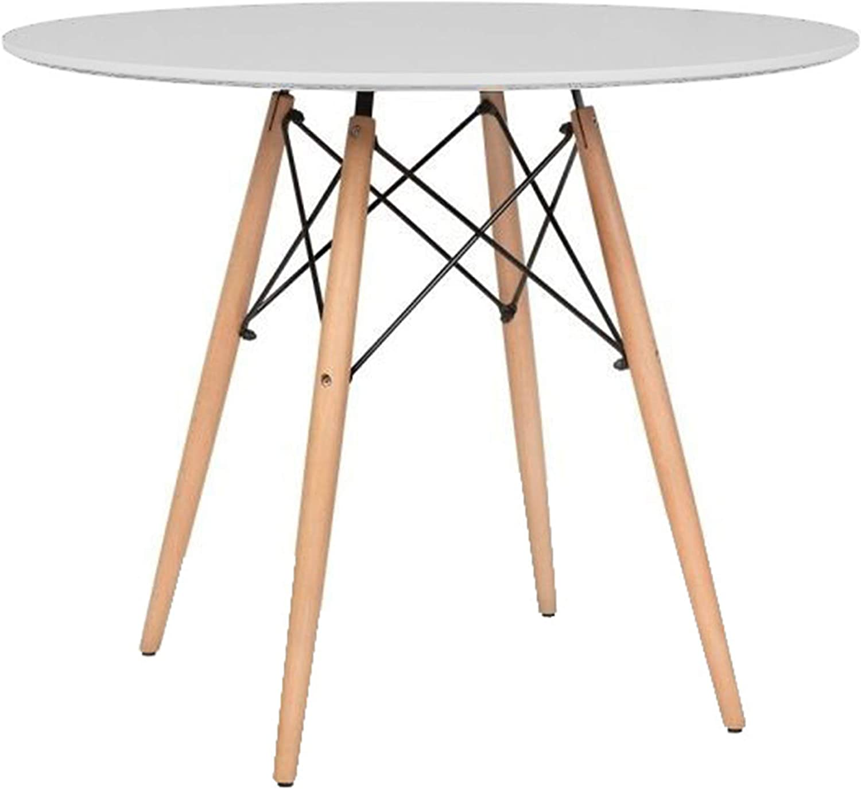 Mirjan24  Esstisch Fiorino Runde, Kaffeetisch, Küchentisch Modern Büro Konferenztisch, Esstisch Küche Holz Kaffee Tee Büro (Wei)