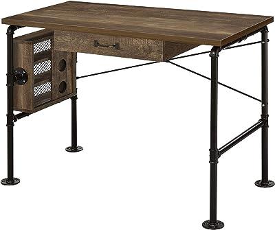 Acme Furniture Endang Writing Desk, Weathered Oak and Black