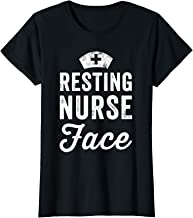 Womens Resting Nurse Face T-Shirt - Funny Nurse Gift