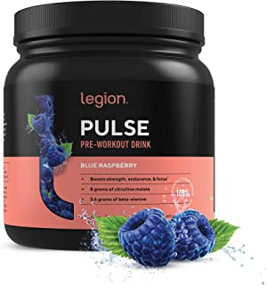Legion Pulse Pre Workout Supplement - All Natural Nitric Oxide Preworkout Drink to Boost Energy & Endurance...