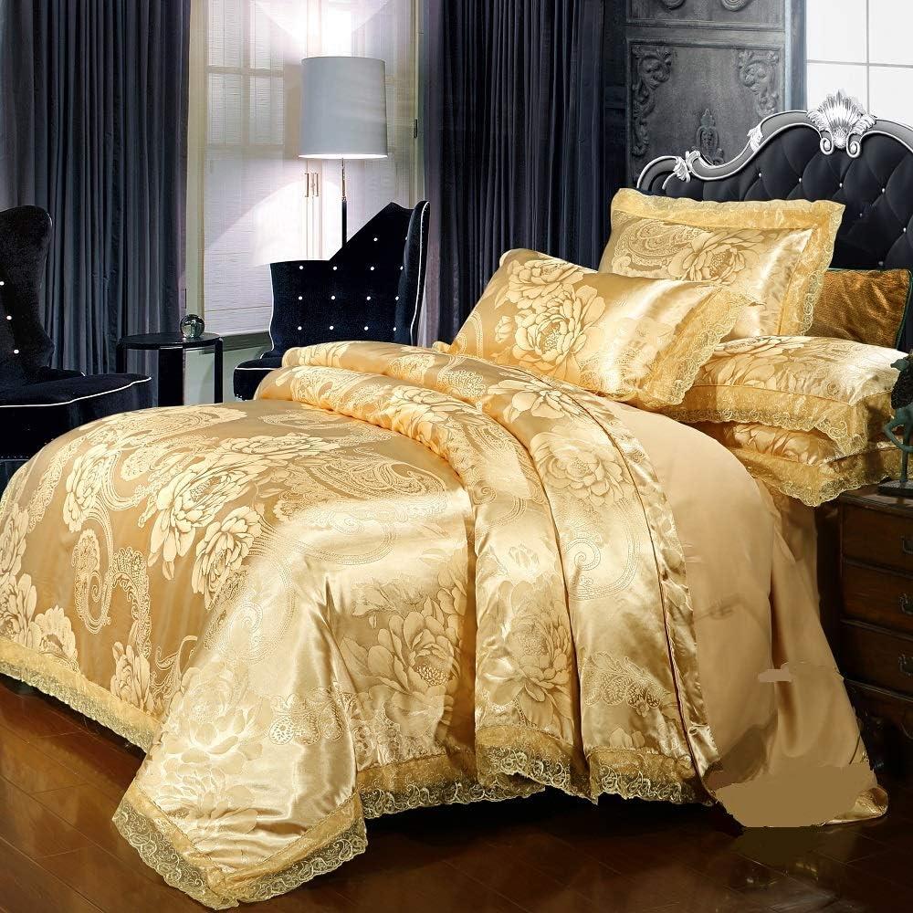 PYCLIFE Luxury Princess Lace Fabric Duvet Weave Jacquard 2020モデル S 超歓迎された Cover
