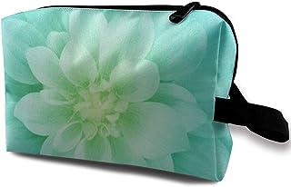 Happy cat diy shop Kosmetiktasche Travel, Ivory Dream Big Flower Panel Kleine Make-up-Taschen für Geldbörse Tragbare Handtasche Reise-Kulturbeutel mit Reißverschluss