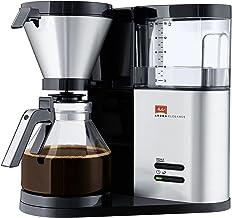 Melitta AromaElegance 1012-01, filterkoffiezetapparaat met glazen kan, Aroma Control, zwart/roestvrij staal, filterkoffiez...