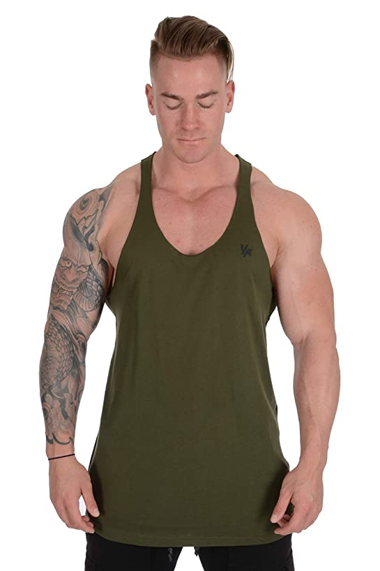 YoungLA Stringer Tank Tops for Men with Raw Edges Cut with Scissors for Trends 318