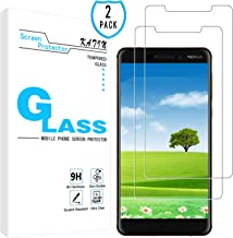KATIN Nokia 6.1 Screen Protector - [2-Pack] Tempered Glass for Nokia 6.1 Screen Protector Bubble Free, Easy to Install with Lifetime Replacement Warranty