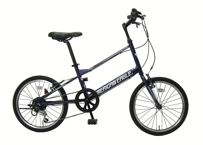 固執読みやすいペックAMERICAN EAGLE(アメリカンイーグル) 自転車 ミニベロ 20インチ シマノ外装6段変速 タイヤサイズ20x1.5 やわらかサドル標準装備