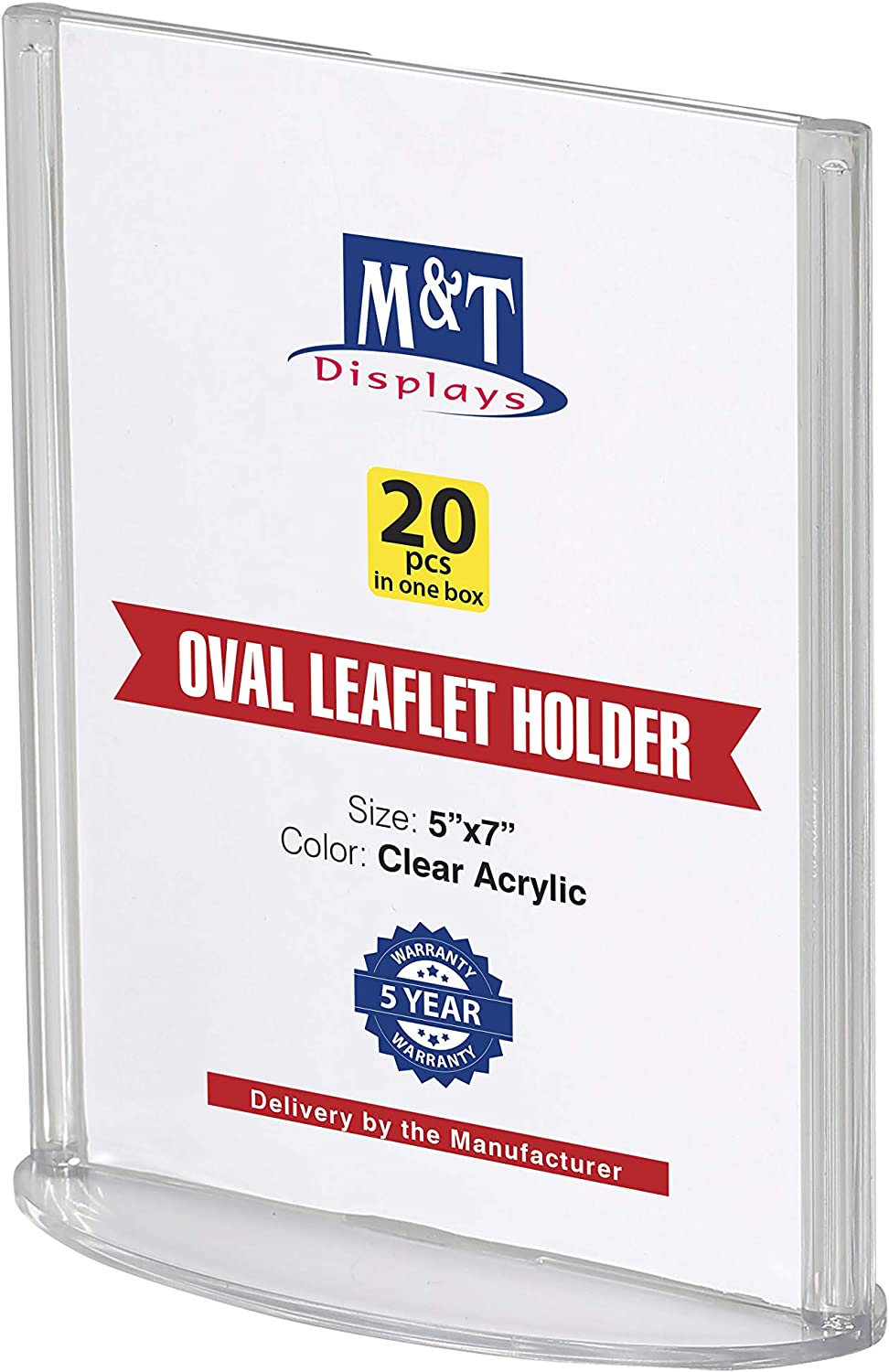Oval Leaflet Advertising Display Holder 激安 激安特価 爆買い送料無料 送料無料 Acrylic Table Sig 4