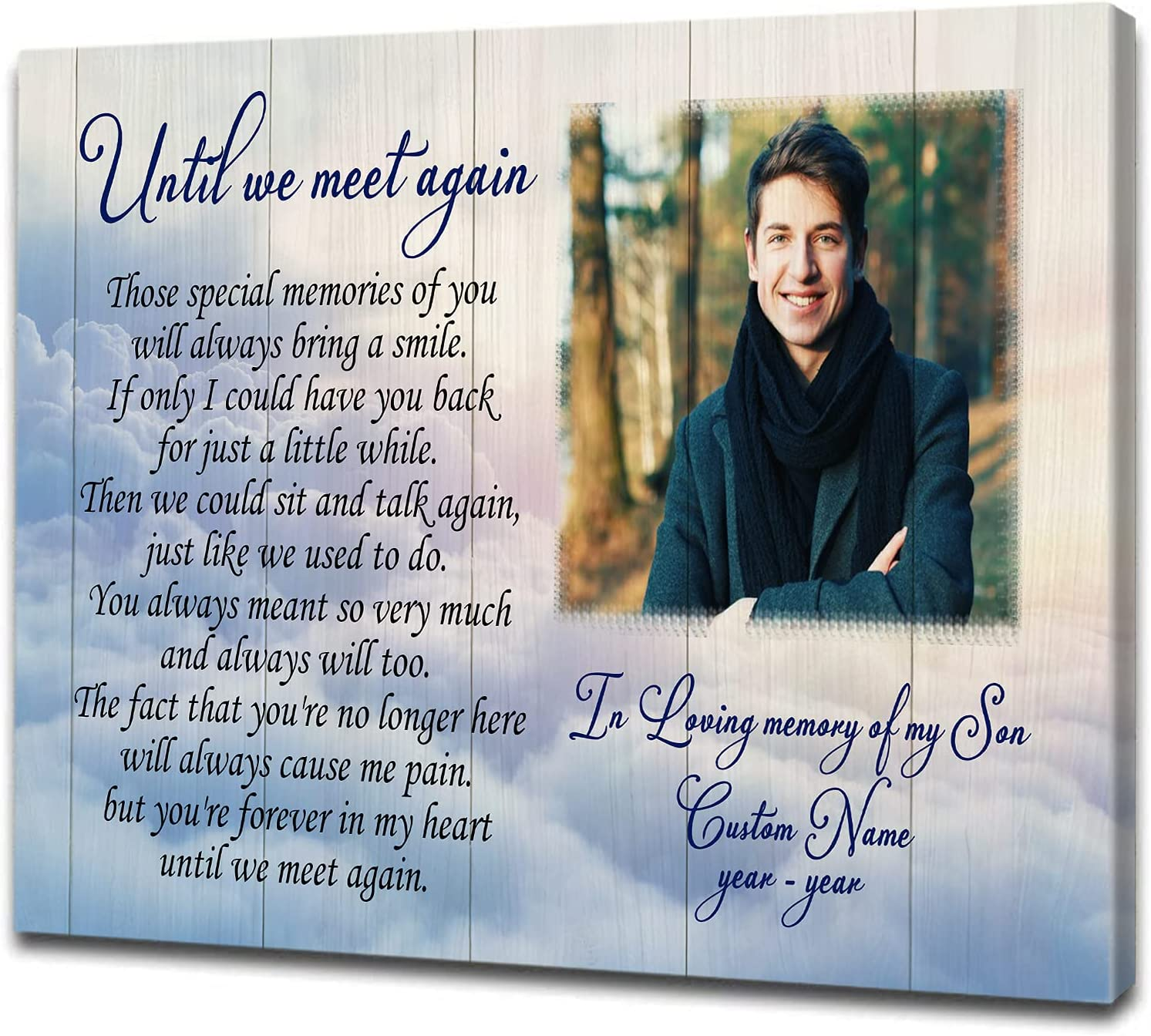 In Loving Shipping included Memory Ranking TOP6 Of My Son Memorial Gift Sympathy Custom Canvas