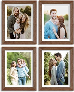Painting Mantra & Art Street Set of 4 Individual Couple Photo Frame / Wall Hanging for Home Décor - Brown