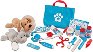 Melissa and Doug LCI8520 Examine and Treat Pet Vet Play Set, 24 Pieces, Complete Toys Set with Plush Dog and Cat, Sold as ...