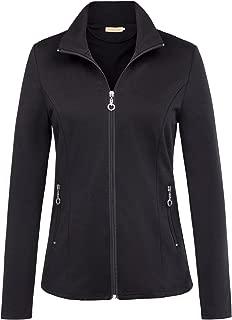 Women's Stand Collar Sport Jacket Casual Lightweight Zip-up Tops Coat