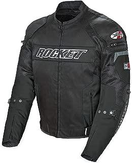 Joe Rocket Resistor Men's Mesh Motorcycle Jacket (Black/Black, X-Large)