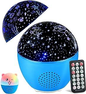 MOSUO LED Veilleuse Enfant Lampe Projecteur Etoiles e Océan, Veilleuse Bébé USB Rechargeable Lumière Enceinte Bluetooth Mu...