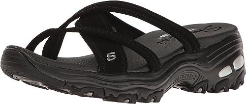 Skechers Cali Wohommes D'Lites-Think Fast Sport Sandal, noir noir, 11 M US