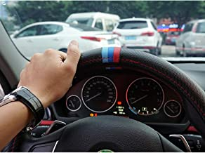 S-WEKA M Color Carbon Fiber Pattern Steering Wheel Cover Sports Steering Wheel Set for BMW