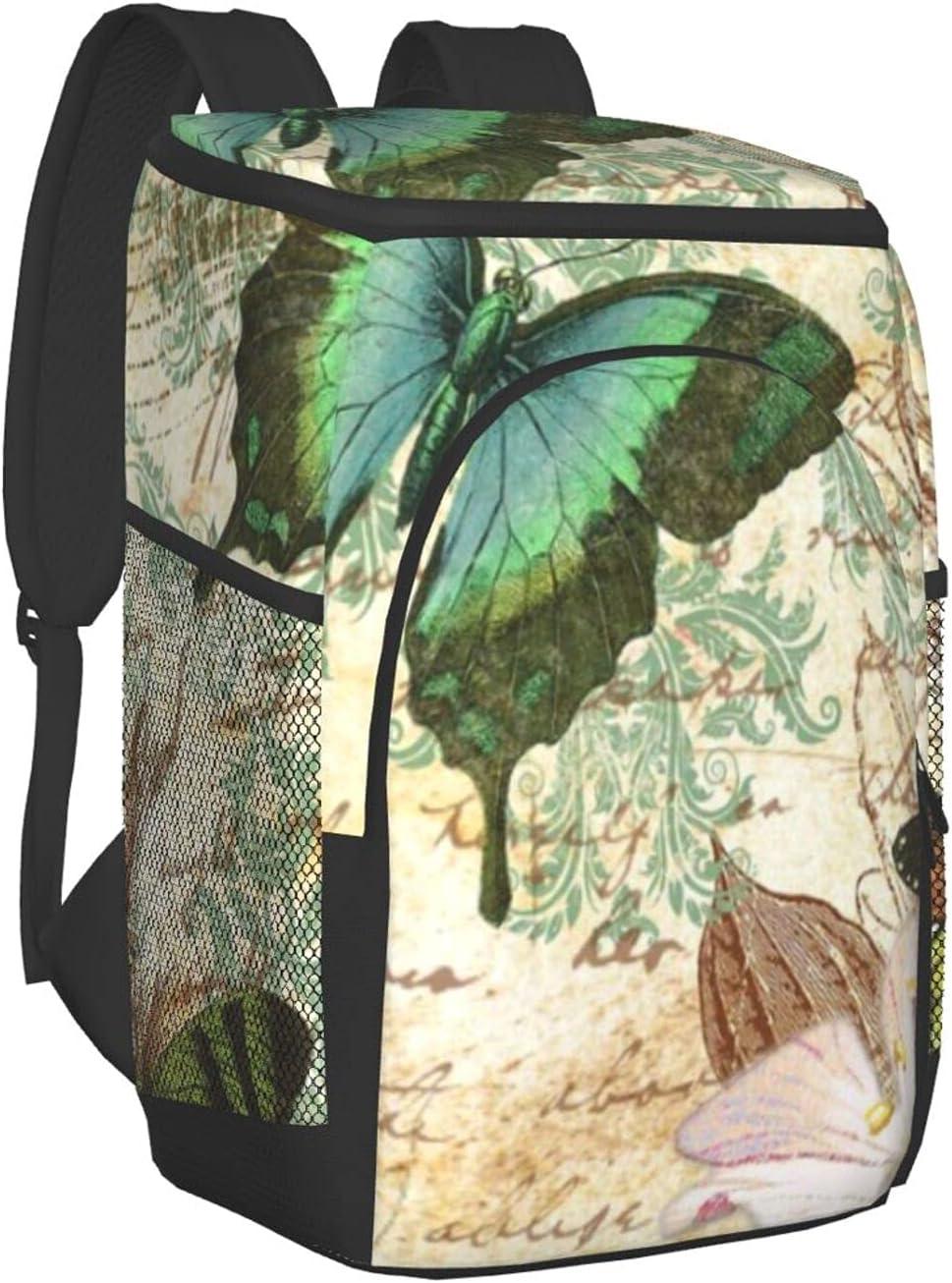 Vintage High order Bargain Butterfly Kisses Insulated Backpack Cooler Leakproof Sof