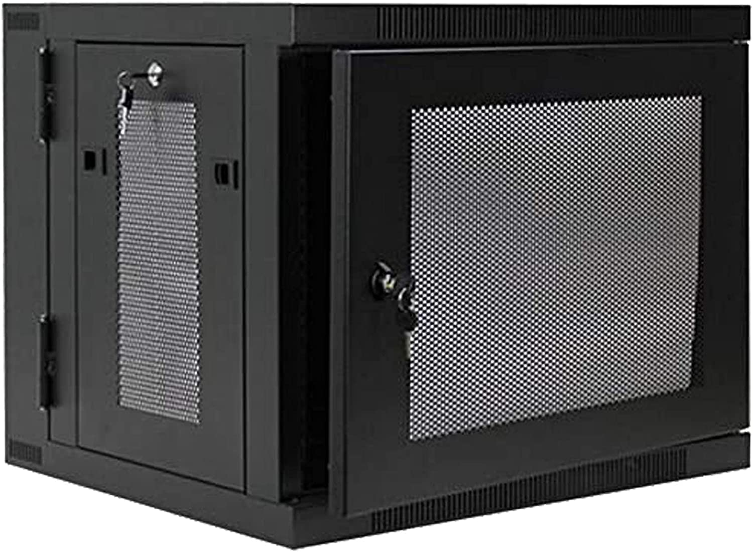 9U Wall Mount Hinged Swing Out Perforated IT Server Network Rack Cabinet Lock, Apply to Office Space, Network Wiring Room, Computer Room, Data Room,Control Center,etc, Sold by MendyNet