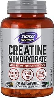 海外直送品 Now Foods Creatine Monohydrate, 120 Caps 750 mg
