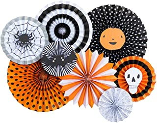 My Mind's Eye - Fancy Halloween Paper Party Fans - 8 Count - Decorations