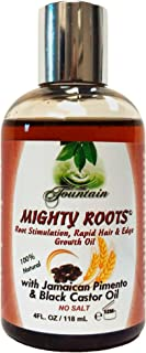 Fountain Mighty Roots Organic Edge Growth Treatment With Jamaican Black Castor Pimento Oil With Satin Cap For 3 Times The Growth 4 Fl Oz