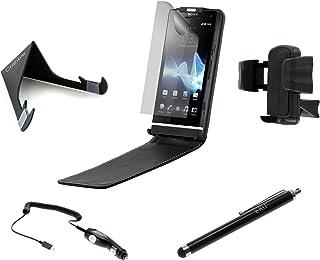 Kit Ultimat sexpack fodral/billaddare/skrivbordsstativ/stil/hållare/skärmskydd för Sony Ericsson Xperia S