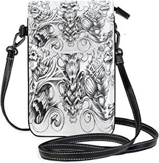 Beautiful Ice Crystal Small Crossbody Bag Cellphone Pouch Womens Mini Leather Shoulder Bags