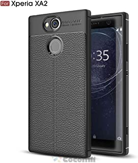 Cocomii Ultimate Armor Sony Xperia XA2 Plus Case New [Heavy Duty] Premium Tactical Leather Pattern Grip Slim Fit Shockproof Bumper [Military Defender] Cover for Sony Xperia XA2 Plus (Ul.Black)