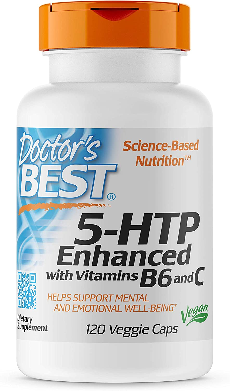 Doctor's San Antonio Mall Best 5-HTP Cheap super special price Enhanced with Vitamins C Non-GMO Vega B6