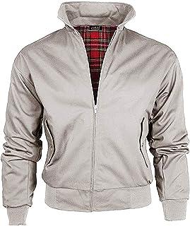 Love My Fashions® Mens Vintage Classic Retro Scooter Harrington Jacket 1970'S Bomber Mod Skin Tartan Lining Coat Plus Size
