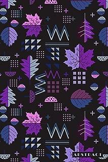 Abstract: Scandinavian Nordic Leaf Pattern Notebook Journal Diary for Men, Women, Teen & Kids